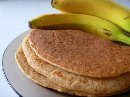 60392350 - a preparation of tasty homemade banana pancakes