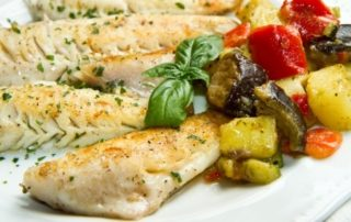 healthy eating guidelines include sea bass