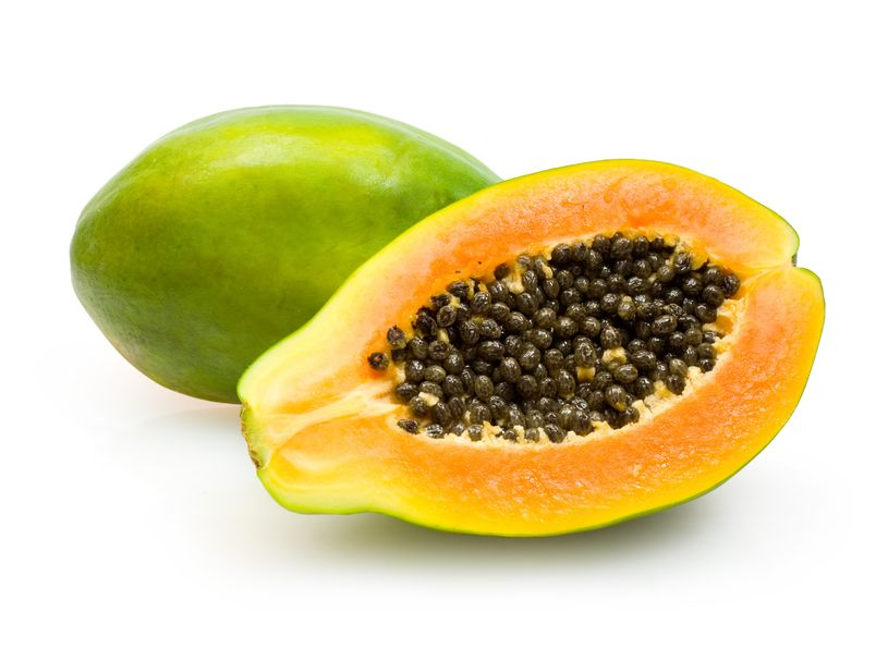 healthy eating with papayas