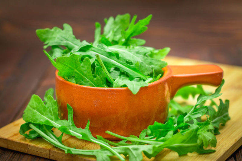 leading a healthy lifestyle with green leafy vegetables