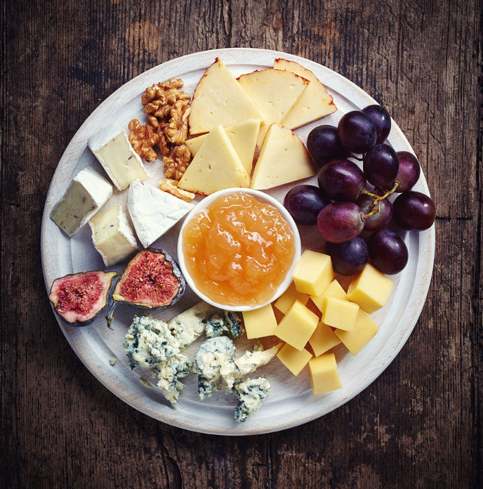healthy diet plans can include cheese plates