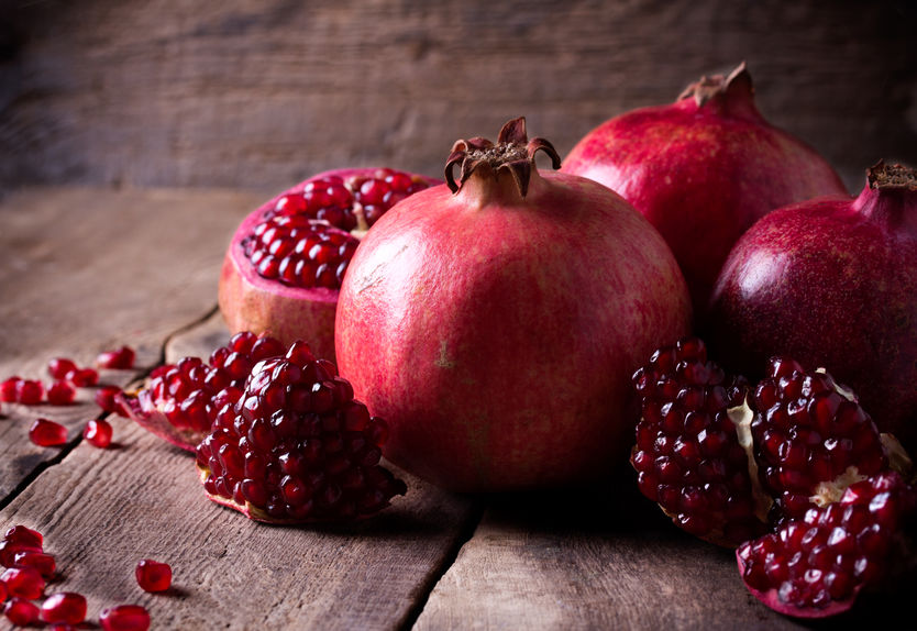 healthy eating with pomegranates