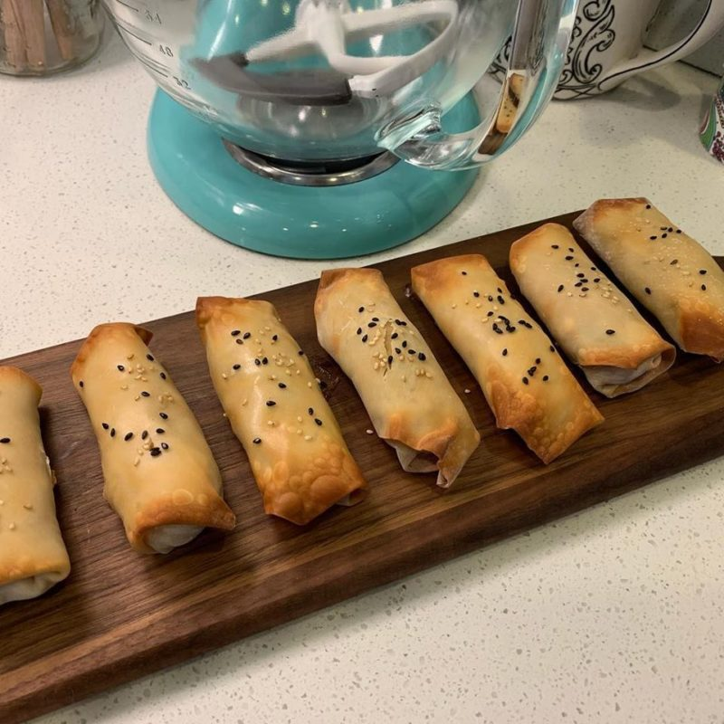 healthy meal plan recipe for baked egg rolls