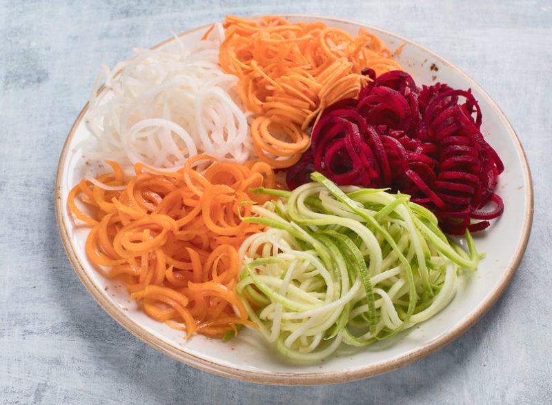 a balanced diet spiralized veggies